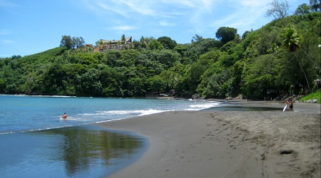 Best Tahiti Beaches black sand beach