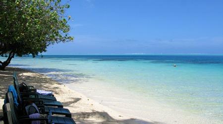 Tahiti beach on Huahine