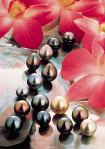 Tahiti pearls colors