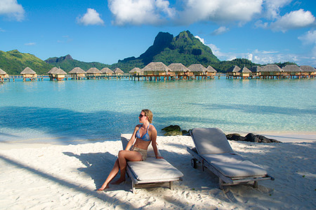 Bora Bora pearl Beach over water bungalow