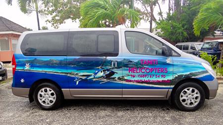 Bora Bora helicopter van