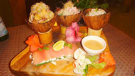 Hilton Bora Bora Polynesian Food