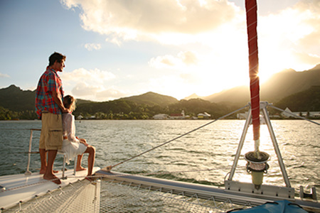 Tahiti Honeymoon sailing