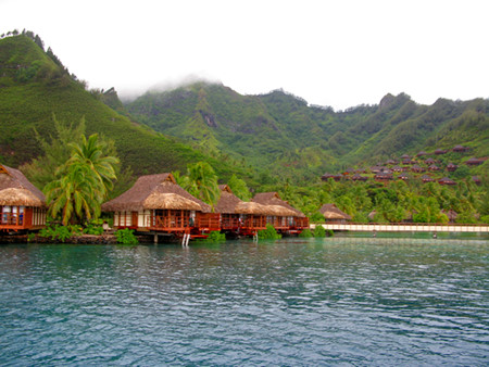 Moorea Intercontinental overwater bungalow