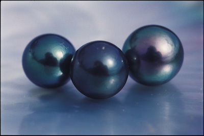 Three Tahiti pearls