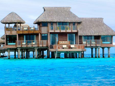Hilton Bora Bora's Over Water Bungalows