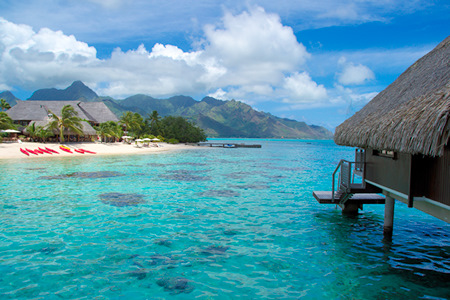 hilton Moorea over water bungalows