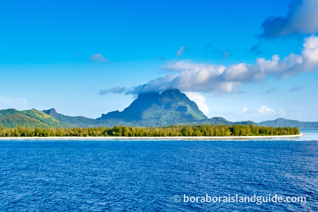 Bora Bora Mt Otemanu and motus