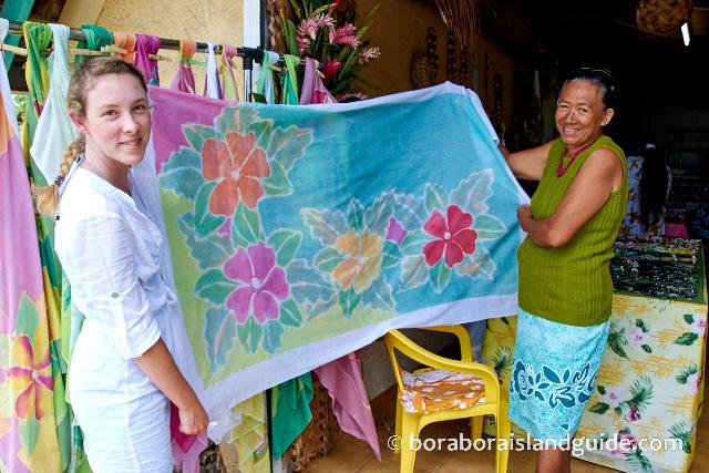market shopping Bora Bora