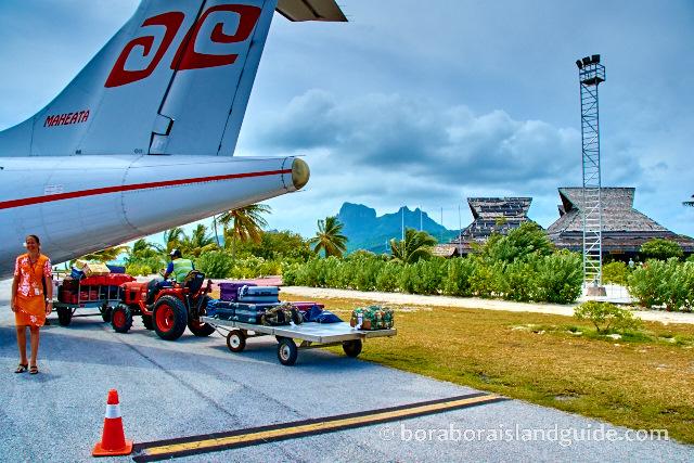 Air Tahiti plane at BOB airport