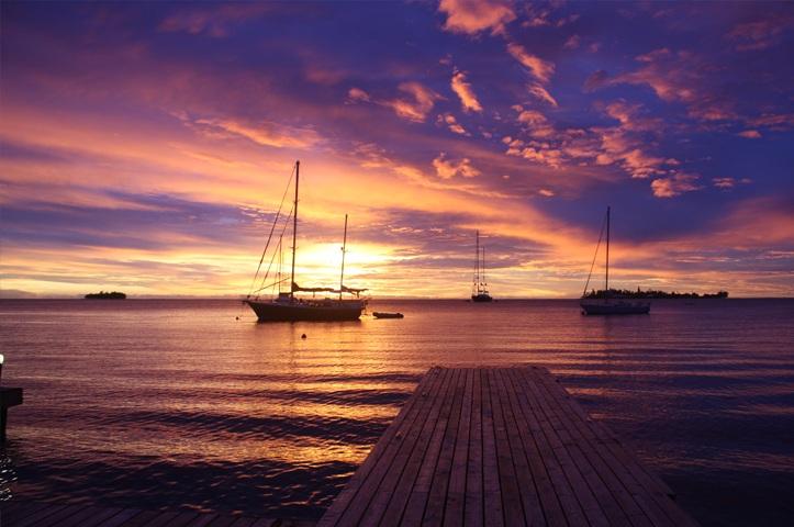 Image result for bora bora yacht club restaurant sunset