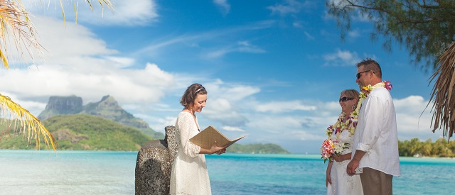 Bora bora private island wedding ceremony junglespirit Choice Image