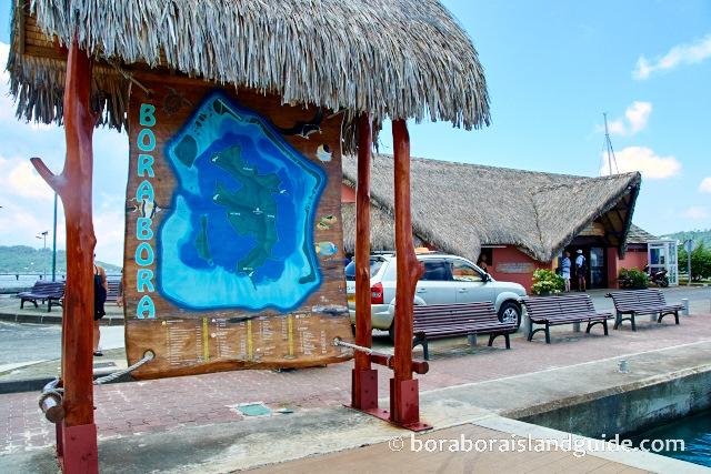 Detailed Bora Bora Map of Landforms, Lagoon, Resorts, Attractions: