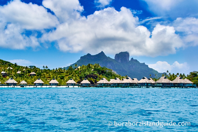 Over water bungalows at the Hilton Resort