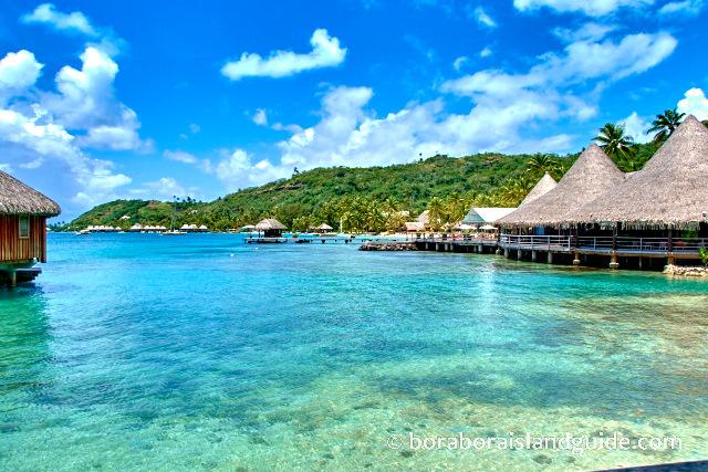 Latitude 16 Restaurant  overlooking the lagoon at the Sofitel Bora Bora