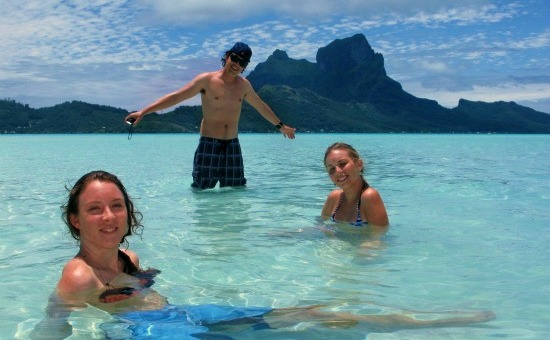 Friends in Bora Bora