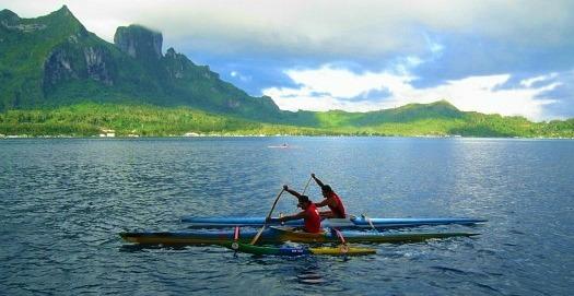 Bora Bora Outrigger Canoe