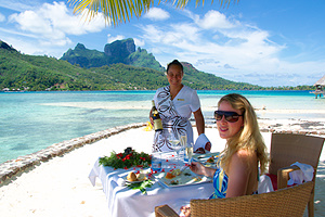 Dining on Bora Bora