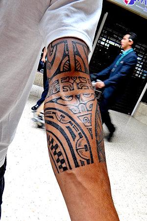 A Marquesan style tattoo