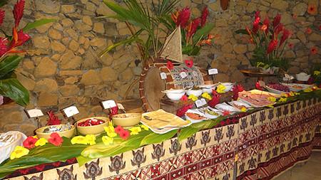 Breakfast buffet Hilton Bora Bora Resort