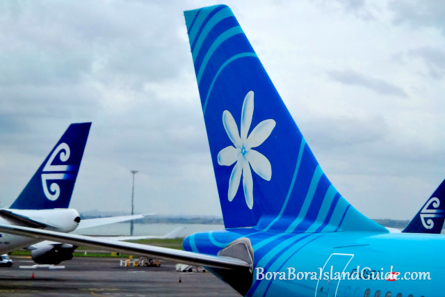 Air New Zealand and Air Tahiti Nui Plane Tails