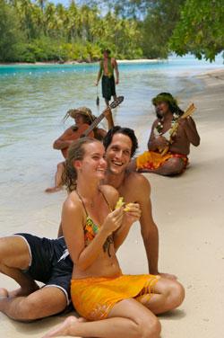 Bora Bora private island picnic