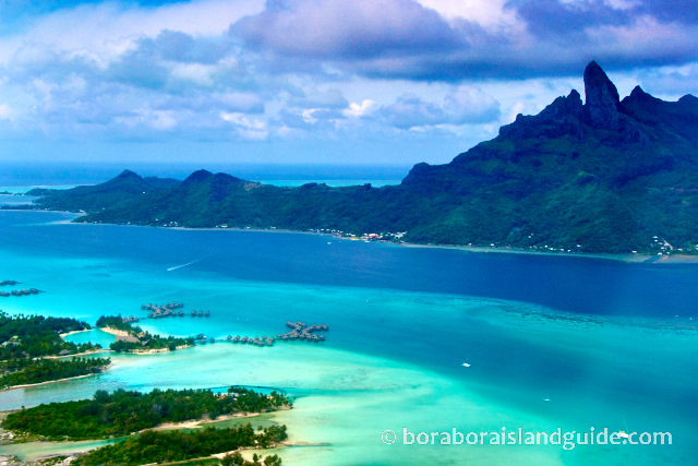 Flying into Bora Bora