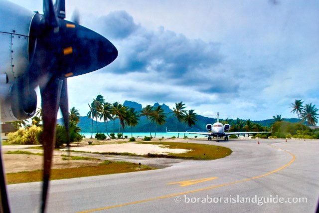 Bora Bora Airport with Air Tahiti plane