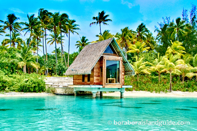 Bora Bora wedding chapel over the lagoon