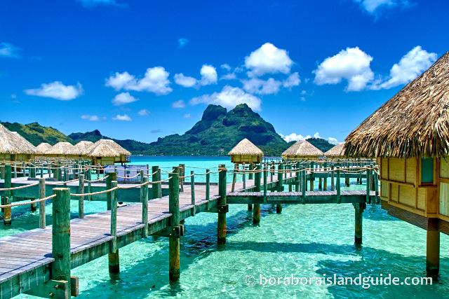 bora bora hotels vacation resorts in tropical island paradise. Black Bedroom Furniture Sets. Home Design Ideas