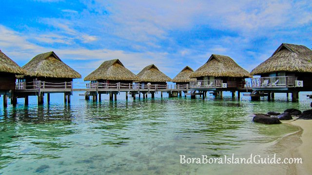 View from a beach bungalow at the Maitai Bora Bora