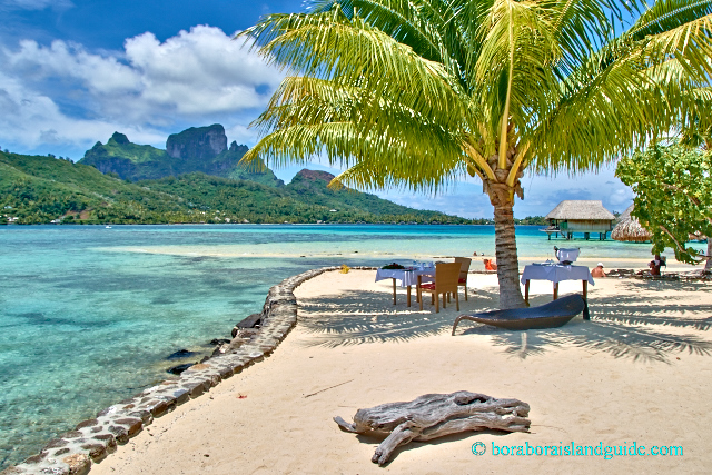 Private beach dinner at the Sofitel Bora Bora