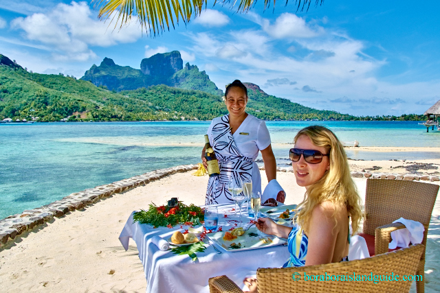 Private lunch on the Sofitel Private Island Beach